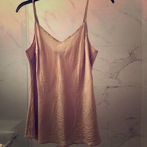 J. Crew nude champagne silk v-neck camisole M